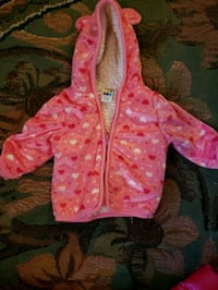 toddler's pink and white polka dot hoodie Webster Springs, 26288