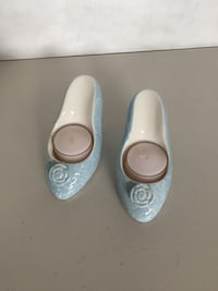 Blue stiletto shoes tea light  candle holder London, N6B
