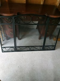 Black Iron Fireplace Cover with poker Vaughan, L4J
