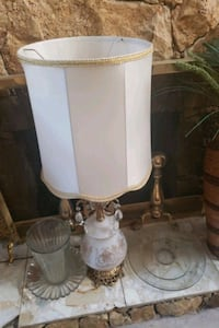white and brown table lamp Surrey, V3X 1P3