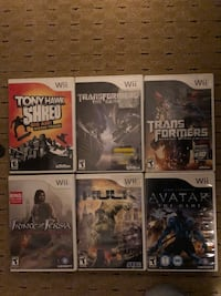 Wii bundle of 6 games for family Moseley, 23120