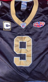 Collectable saints 2009 Super Bowl Jersey
