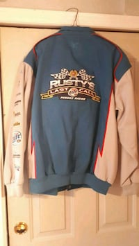 blue and black Chicago Bulls jacket 1411 km