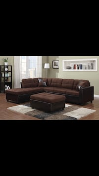 Brown reversible sectional Bellair, 32073