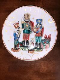 Williams Sonoma TWAS NIGHT BEFORE CHRISTMAS Salad Plate Nutcracker NEW