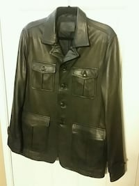 Bugatchi Leather Coat medium
