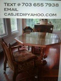 brown wooden dining table set Arlington