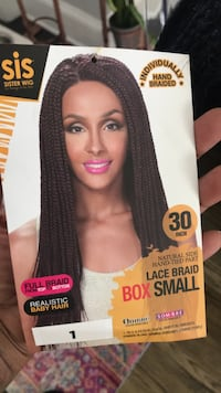 Affordable Braided Lace Front Wig w/ realistic baby hair  Washington, 20019