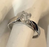 10k white gold .45ct. diamond solitaire engagement ring *Priced low