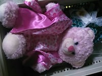 pink and white heart print bear plush toy Ceres, 95307