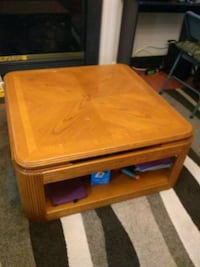 Coffee table solid wood 35x35x16 Ranson, 25438