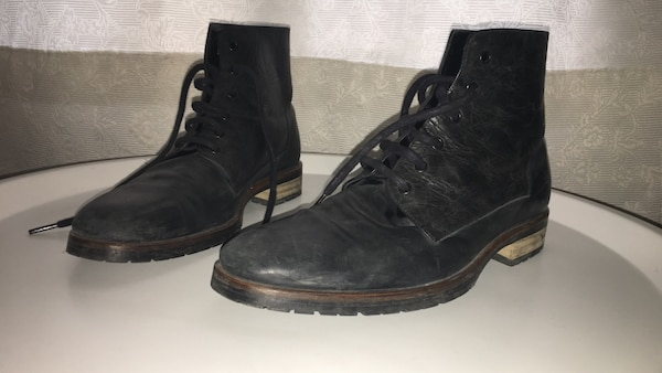 Boots grey leather T42 (eu)