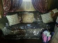 black and brown floral fabric sofabed brand new..n Milwaukee, 53209