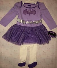 New with Tags Baby / Infant Batman / Batgirl Purple Dress Outfit with Tights 18 Months   Visalia, 93292