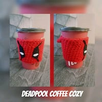 Deadpool Coffee Cozy - Handmade