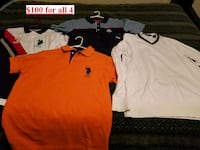 USPoloAssociation/Rocawear XL Shirt lot of 4 Houston, 77066