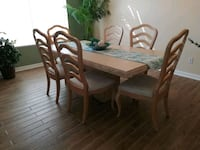 Travertine dining room table, 6 chairs. Plus Peoria, 85382