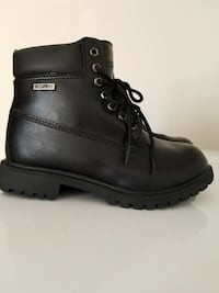 BRAND NEW black leather work boot