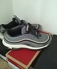 pair of gray-and-white Nike running shoes Waldorf, 20601