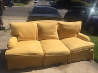 6 months old Yellow 3-seat sofa
