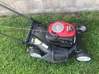 black and red push mower Rogers