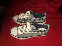 white-and-gray low top sneakers Lexington Park, 20653