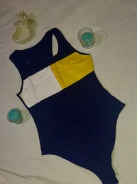 blue, white, and yellow 1-piece swimsuit Houston, 77026