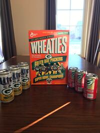 Packers super bowl wheaties box and cans