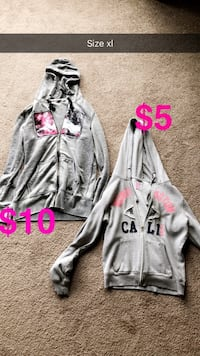 gray and pink zip-up hoodie null, T0J 1Z0