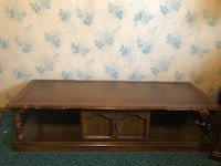 Brown wooden tv stand with cabinet Oakland, 94603