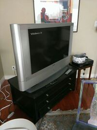 gray CRT TV with remote Sidney, V8L 1S3