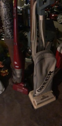 red and gray upright vacuum cleaner Medford, 02155