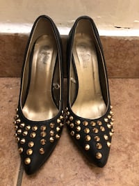 pair of black leather flats Toronto, M6A 1W8