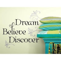 RoomMates Dream Believe Discover Peel and Stick Wall Decals Brampton