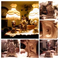 Antique Clock with two lamps seen on eBay for$1700.  Palmdale, 93550