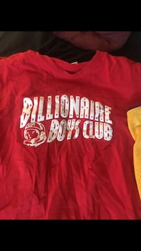 Red and white billionaire boys club t-shirt Tucson, 85730