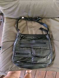 2 NWOT Black patched lambskin leather purses