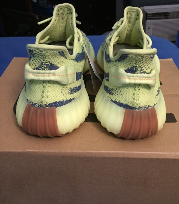 b3242ce2ff4a8 Used white-and-blue Adidas Yeezy Boost 350 for sale in Waterbury - letgo
