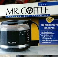 Mr. Coffee replacement decanter box Tempe, 85282