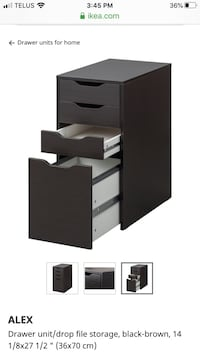 IKEA drawer unit with file storage