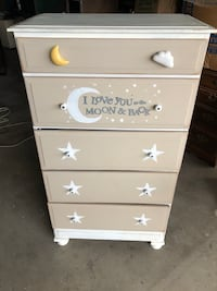 5 drawer dresser I love you to the moon & back theme Kent, 44240