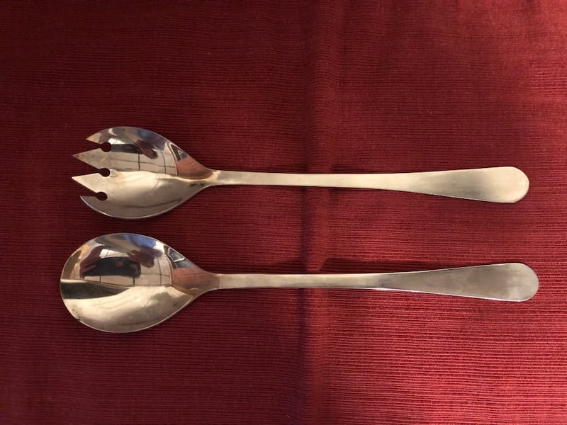 Crystal Salad Bow w/SilverFork/Spoon and Silverplate Candy Dish-$15 ea 70d5e042-d489-4494-95ea-f41ddc75792e