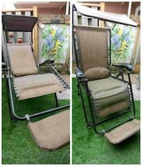 One reclining lounge chair with attached sun shade Hamilton, L8V 3G9