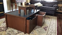 Brown wooden play table with storage King, L0G 1N0