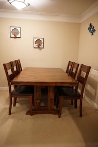Extendable 9 piece Pecan Dine Table Sterling, 20164