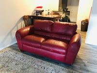 red leather 3-seat sofa Farmers Branch, 75234