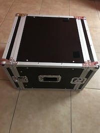 black and silver flight case
