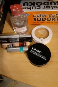 Makeup and blush and etc.