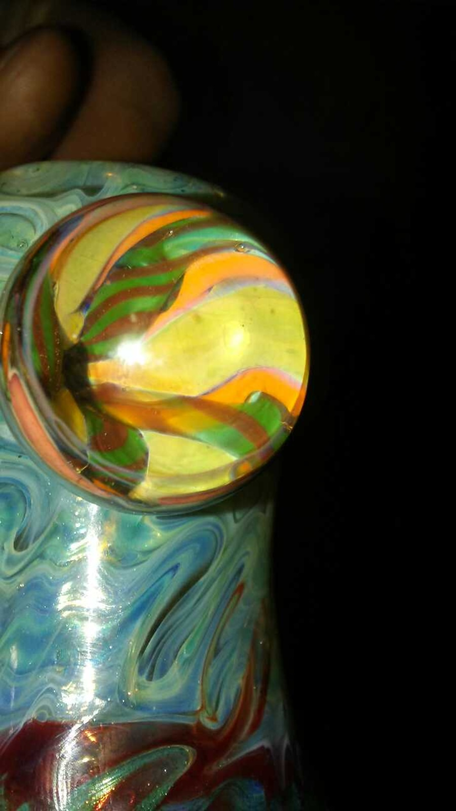 DOUBLE PERKED red, green and blue bubble. - United States