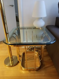 Glass end table - Excellent Condition New York